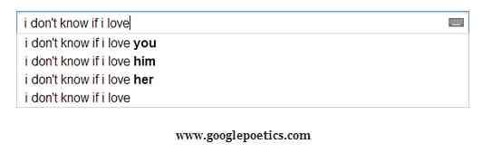 Poesie via Google