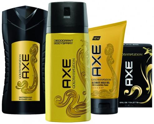 AXE Gold Tempattaion Packshots