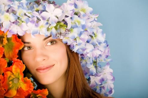 Portrait of flower girl